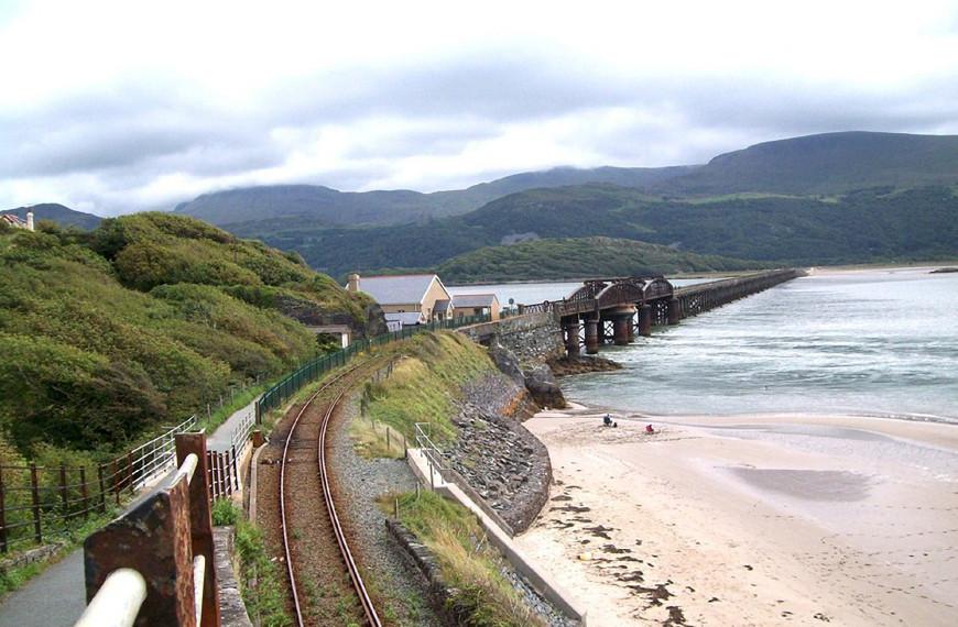 Barmouth Railway Viaduct, Barmouth, Gwynedd, Wales